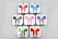 Wholesale Colorful Earphone for Iphone G Earbuds Headphone MIC Volume Control for iPhone5 iPod Earpod