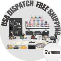 Wholesale USA Dispatch Professional tattoo Kit Machines Guns colors ink new design From Tattoooo
