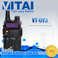 Wholesale Promotion now VT UV3 Dual band dual display FM Transceiver with Flashlight Function Very Fast Deli