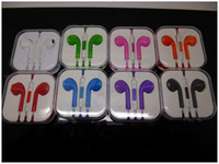 Wholesale Colorful Earphone Earpods Earbuds for Apple Iphone G with Mic Volume Control with Retail Package