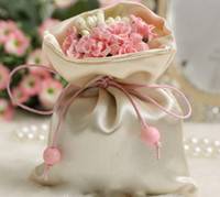 Wholesale Pink flowers hand bag candy bags wedding candy box wedding return gift wrap candy packaging