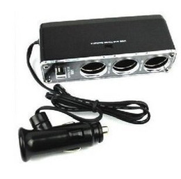 Wholesale car dvr Car cigarette lighter doesthis three cigarette lighter belt usb charge power supply distributor driv