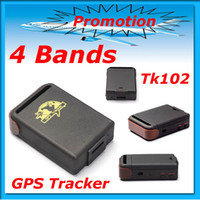 Wholesale Dropshipping GPS Tracker Mini Global Real Time Bands GSM GPRS TK102 gps Tracking device for pers