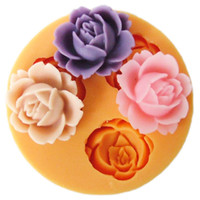 Wholesale F0101 silicone cake decorations rose mold moulds fondant cake tools Diy silicone molds