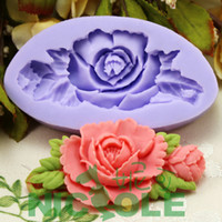 Wholesale F0199 single Food grade camellia flower silicone cake decoration mold DIY fondant tools