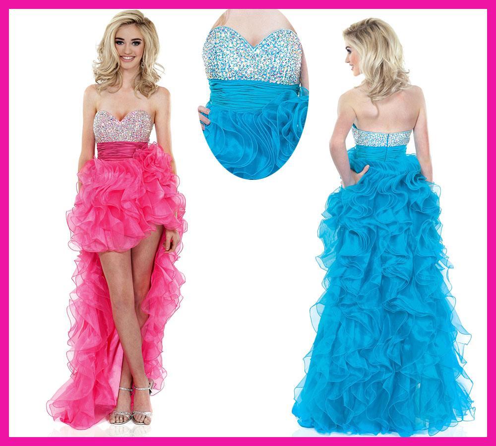 Blue and Pink Short Dresses_Other dresses_dressesss