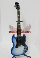 Solid Body 6 Strings Mahogany Free Shipping New Arrival Light Bule SG Signature OEM Electric Guitar High Quality A553
