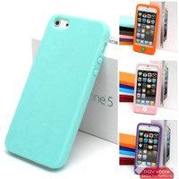 Wholesale for iphone g jelly bean tactile home button soft sherbet silicone cover skin case