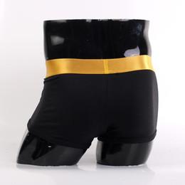 Wholesale Men s and Women s International Brand Pure Cotton Steel Boxers amp Briefs Gold Band Black Underwear