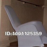 Wholesale 50pcs white polyester spandex banquet chair cover with an arch with DHL
