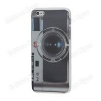 Leica M9 Vintage Camera pelle dura caso della copertura posteriore della protezione della protezione per Apple iPhone 5 il trasporto libero