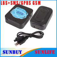 Wholesale GPS LBS SMS GPRS GSM Personal tracker Quadband anti theft SOS alarm Geo fence Real time location tr