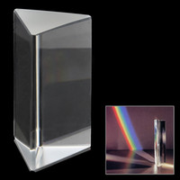 Wholesale Optical Triple Triangular Glass Prism Spectrum White