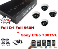 Wholesale H CH Full D1 Full H Real Time Network CCTV DVR Sony Effio TVL Dome IR camera system