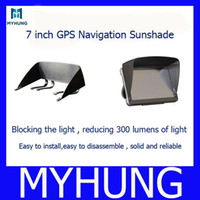 Wholesale 7 inch navigation sunshade gps navigation Sun shade hood sun hats