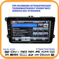 Wholesale 8 quot Special Car GPS For VolksWagen Jetta Sagitar Caddy Touran magotan GOLF V With Car DVD Radio Playe