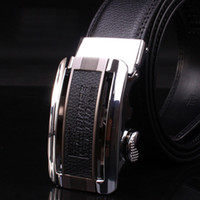 Wholesale Special Design New Man s Automatic Buckle Genuine Leather Waist Strap Belts GR51