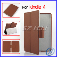 Wholesale Folio Leather Case Stand Cover For Amazon Kindle Inches with Belt Clip