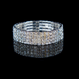 Wholesale STOCK Fashion Peals Crystals Cheap Bracelet Wedding Bridal Bracelets Jewerly