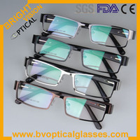 Wholesale Full rim metal optical frame with spring hinge colors