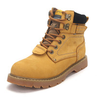 "Unisex Summer PU ""cady-s"" wholesale fashion lace up classic hiking boots women size 34-40 (Yellow, Light Brown, Dark"