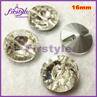 crystal clear color Sew-On Glass 3010 rivoli crystal sew on button 16mm clear color bling crystal rhinestones for making wedding dres