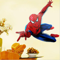 Wholesale funlife Pieces x90cm x35in large Spiderman boy room art mural wall decal stickers peel amp Stick FXAY1937