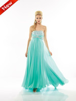 Reference Images Strapless Chiffon 2013 Aqua Strapless Prom Dresses Bling Bling Beaded Crystals Shiny Sequins Simple Evening Party Gown