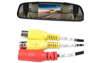 Wholesale Car Rearview Mirror Monitor TFT Video input reversing sensor function For Car Rear View Came