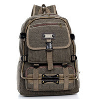 Wholesale 2015 new arrival unisex thick canvas backpack bag for campping hiking high quality sport backpack for outdoor hiking travllling