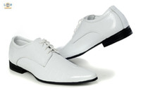 athletic dress shoes - 2013 New Arrival Brand Mens Dress Shoes men popular Leather business Casual Athletic boots white
