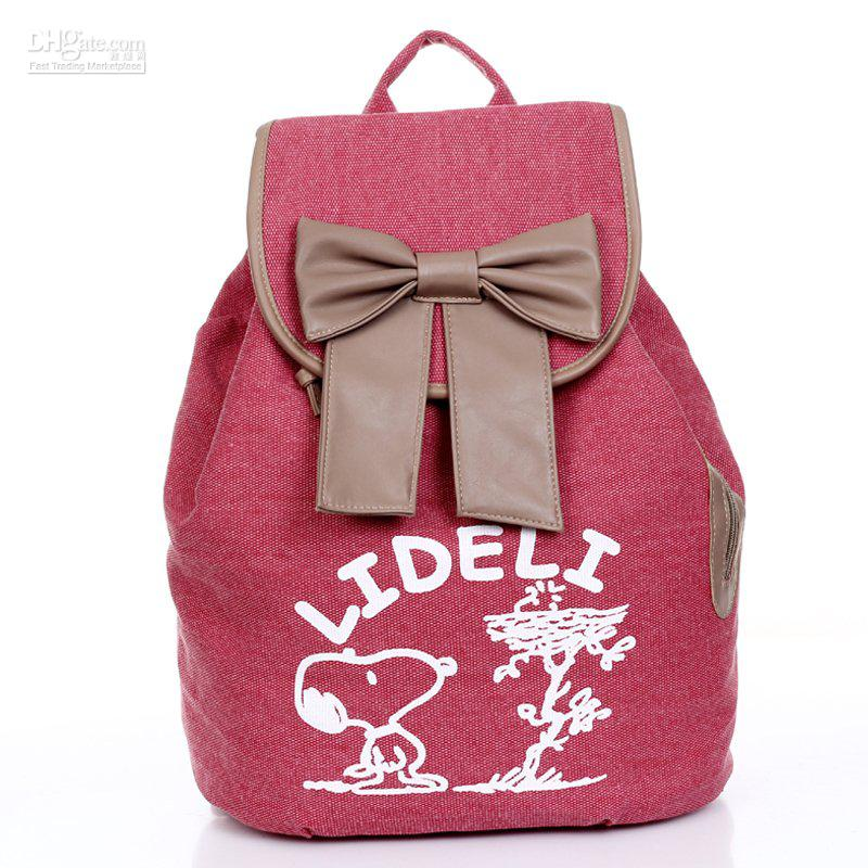 Korean Style Girls Cute Canvas Backpack Kid School Bags With ...