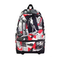 Wholesale new Michael Jackson Memorial Edition Backpack schoolbag Casual Backpack three col