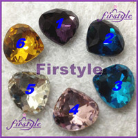 Wholesale MANY COLORS U choose x11mm heart shape crystal Facny Stone clear aquamarine pink topaz