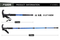 Wholesale Outdoor alpenstock four t handle hiking mountaineering special