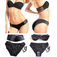 Wholesale Top Slae Sexy Bikini Lady Swimwear push up Strapless Beach Wear Bathing Suit Swimsuit color S M L