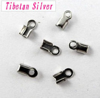 Wholesale 900Pcs Tibetan Silver End Cord Crimp Bead Cap x6mm