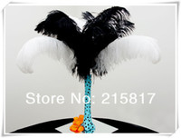 Wholesale quot Ostrich Feathers Plumes for Black White Wedding Centerpieces OF043
