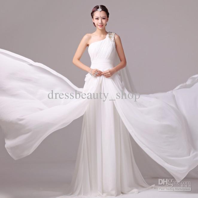 2013 goddess greek sheath beach wedding dresses colorful for Greek wedding dress designers