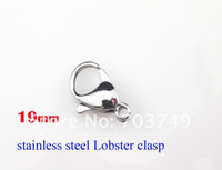 Wholesale Stainless steel lobster clasp hooks good quality fashion jewelry accessories parts mm