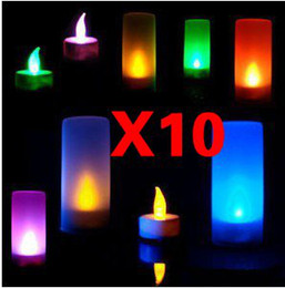 Wholesale 10X LED Magic Color Change Sensor flicker Candle Light amp
