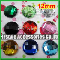 Wholesale nail art acrylic mm Superior Taiwan Acrylic Flat Back Rhinestones Round Circle Shape