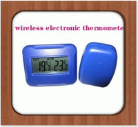 Wholesale wireless electronic thermometer indoor and outdoor thermometer table red yellow blue white multicol