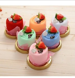 Wholesale Supply new selling fruit cheese creative gift fruit best cheese cake towel ice cream cake modelling