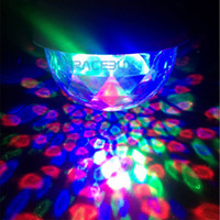 Wholesale Crystal Magic Ball Effect Stage Lights Led E27 W RGB Rotating Lamp For Party Disco DJ Bar Brand New