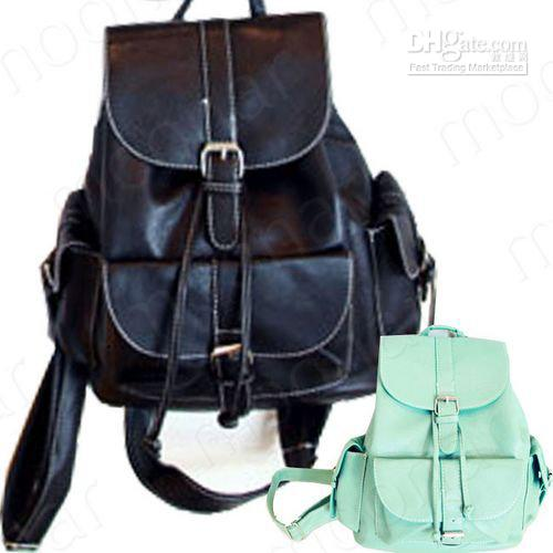 Women's Faux Leather Backpack Book Bags Schoolbag Casual Knapsack ...