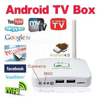 Wholesale 2 MP Camera MIC HD P Android A10 DDR3 GB RJ45 Wifi USB TF Google TV Box