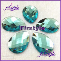 Black faceted glass stones - crystal beadsBIG PROMOTION pear glass crystal beads x25mm faceted flatback stone Aq