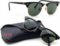 Wholesale Strengthen the glass half frame retro sunglasses men and women sunglasses fashion sunglasses