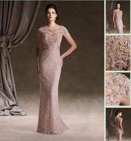 Wholesale 2013 Vintage Short Sleeves Applique Rhinestone Lace Sheath Keyhole Mother Of The Bride Dress